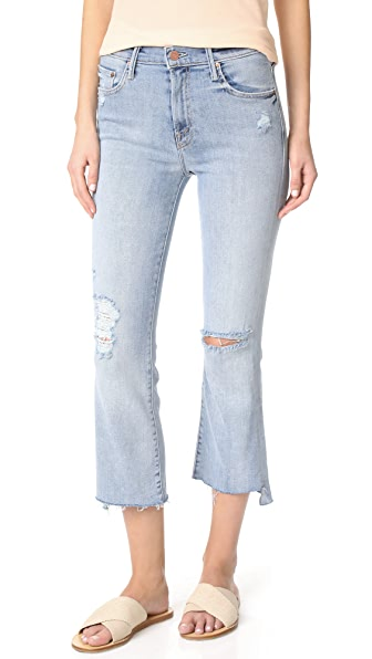 MOTHER The Insider Crop Step Fray Jeans In Chatterbox