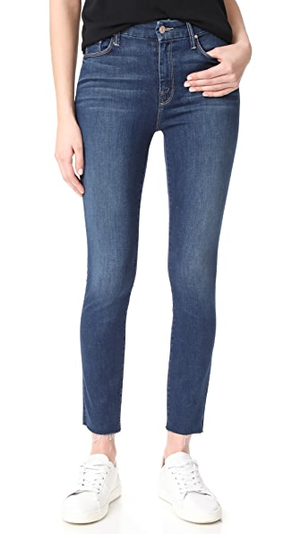 MOTHER Looker Ankle Fray Jeans - Faster