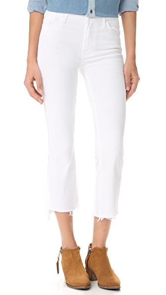 MOTHER The Insider Crop Step Fray Jeans - Glass Slipper