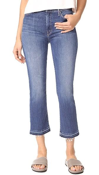 MOTHER The Insider Crop Undone Hem Jeans - Medium Kitty