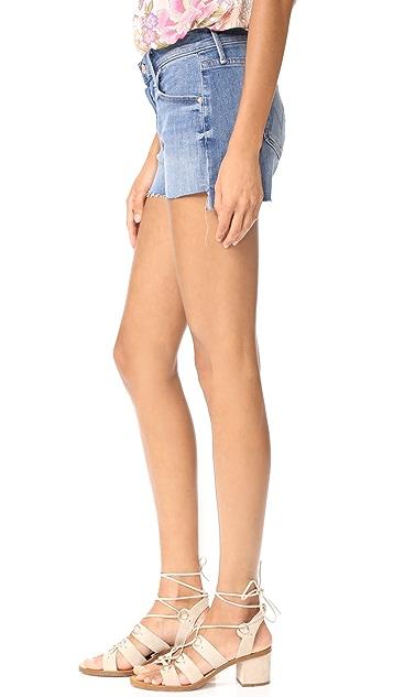 MOTHER Teaser Step Fray Shorts