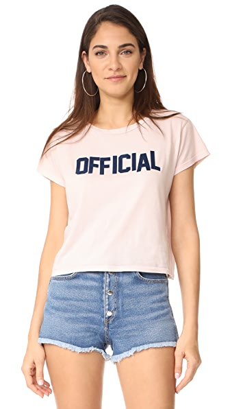 MOTHER Cropped Goodie Goodie Tee - Pastel Pink