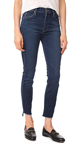 MOTHER Stunner Ankle Step Fray Jeans - After Hours