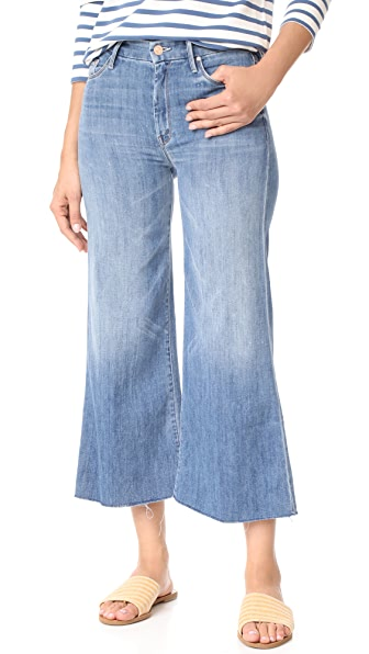 MOTHER The Roller Crop Snippet Jeans - Lucky Strike