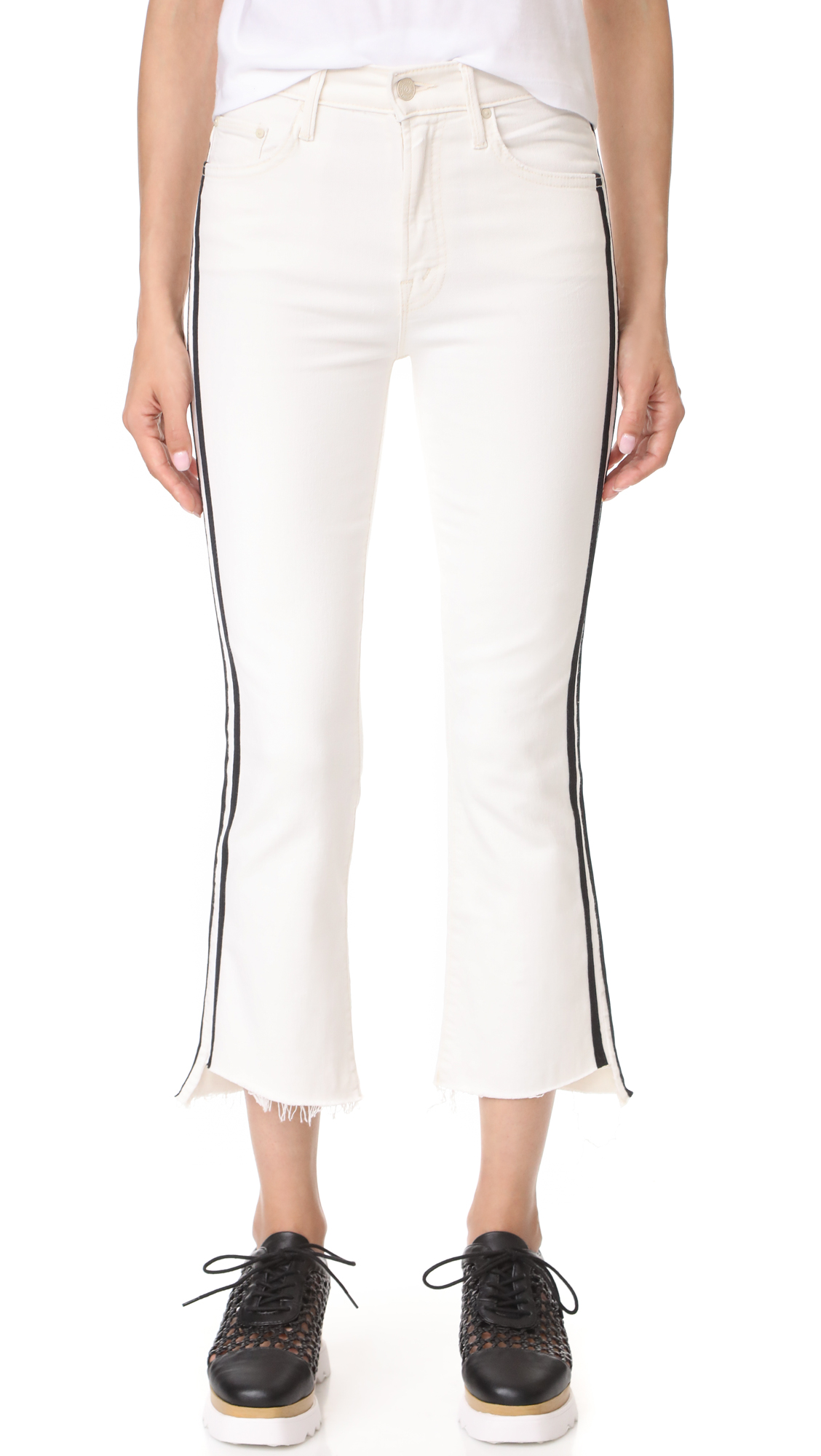 MOTHER Insider Crop Step Fray Jeans - Whipping The Racer