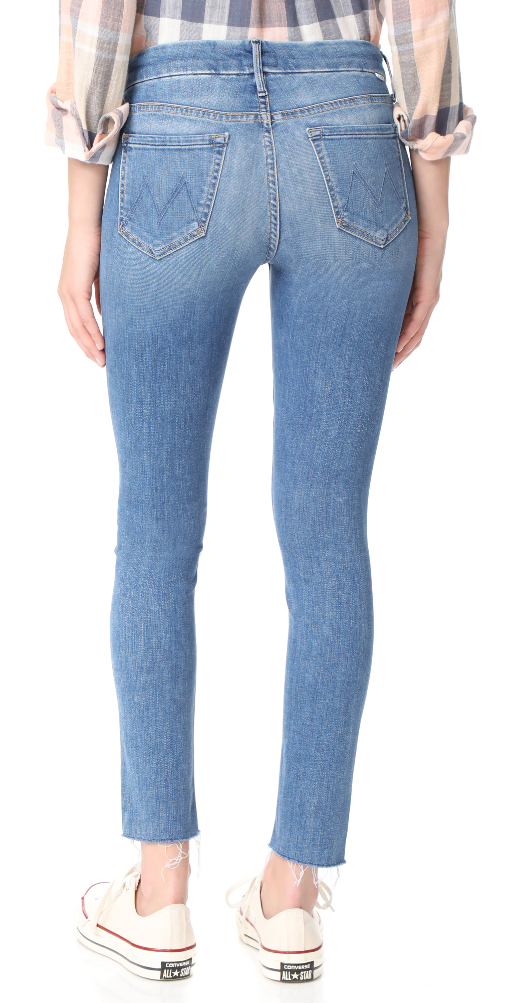 e5967672d1bf MOTHER The Looker Ankle Fray Jeans