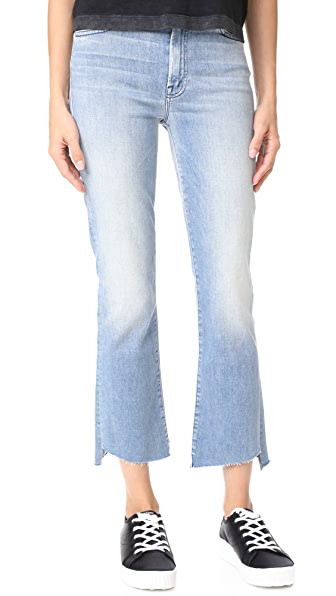 MOTHER Insider Crop Two Step Fray Jeans - When Sparks Fly
