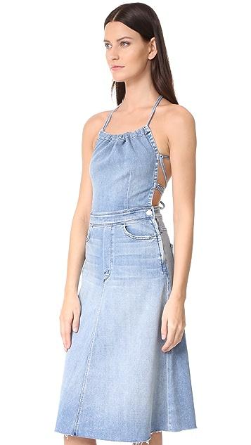 MOTHER Tie Back Midi Dress