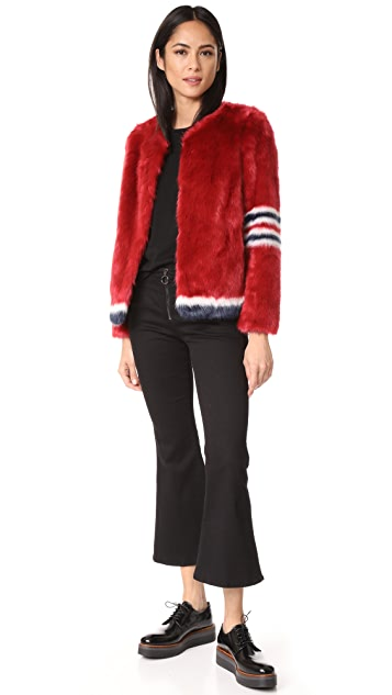 MOTHER Boxy Faux Fur Coat