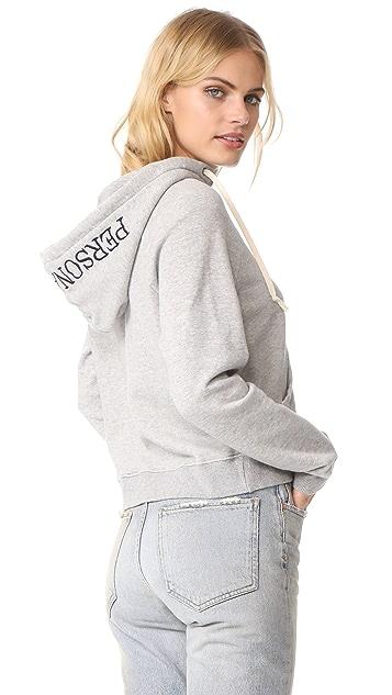 MOTHER Square Stitched Hood Sweatshirt