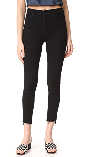 MOTHER The Stunner Zip Ankle Step Hem Jeans - Not Guilty