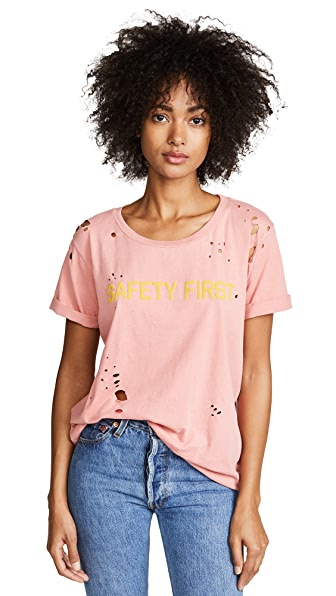 MOTHER Oversized Goodie Goodie Tee In Pink Dust