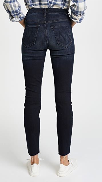 MOTHER HW Looker Ankle Fray Jeans