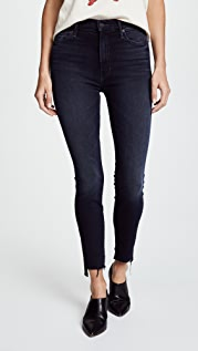 MOTHER The Stunner Zip Two Step Fray Jeans