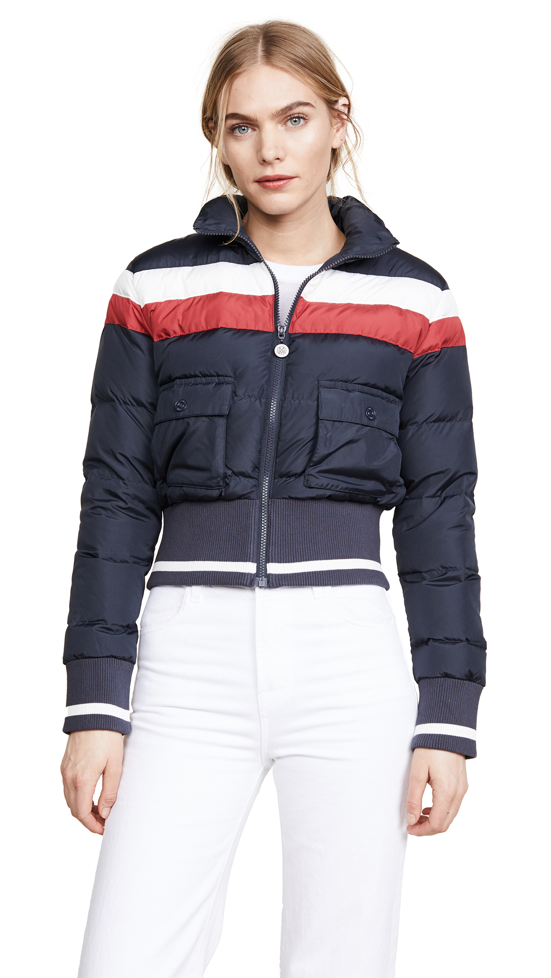 MOTHER The Big Rib Puffer Jacket - Navy
