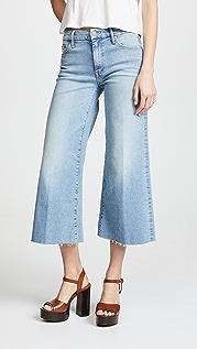 MOTHER Укороченные потрепанные джинсы Roller