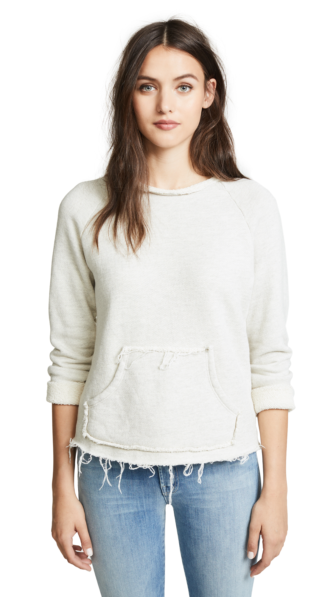 MOTHER The Kangaroo Square Sweatshirt In Unfinished Business