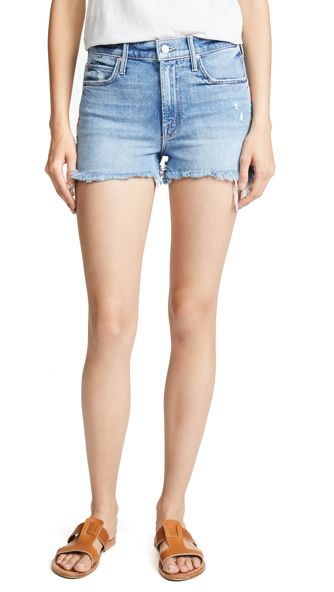 MOTHER The Dutchie Fray Shorts In Misbeliever
