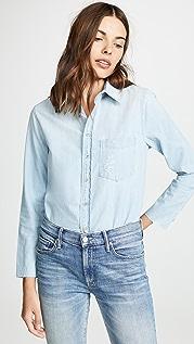 MOTHER Рубашка на пуговицах с бахромой Foxy Slice
