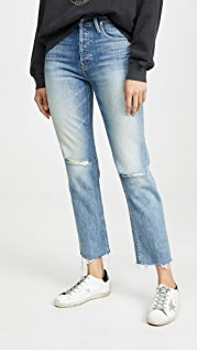 MOTHER MOTHER Superior The Tomcat Ankle Fray Jeans