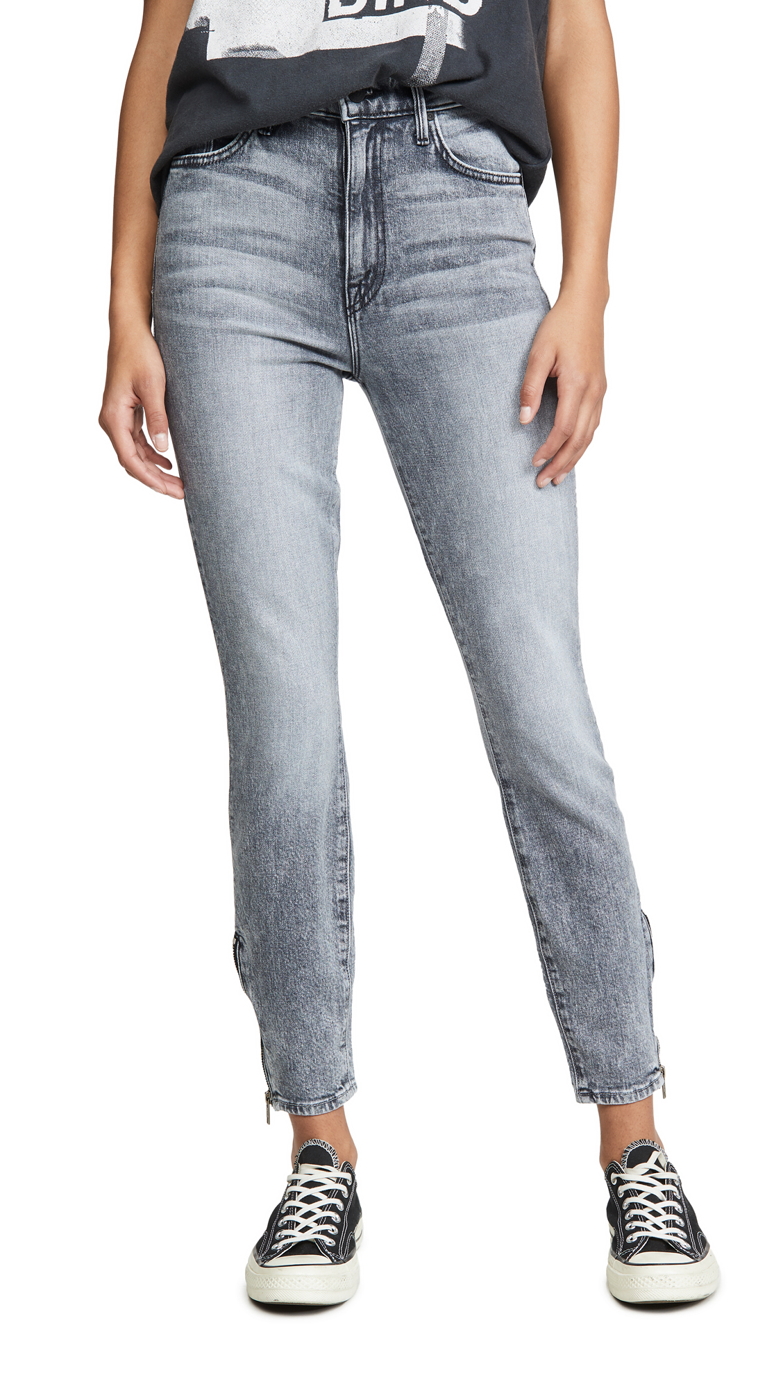 Buy MOTHER online - photo of MOTHER Swooner Ankle Zip Jeans