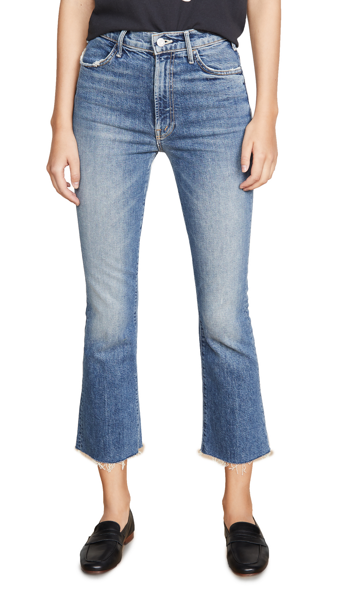 Buy MOTHER online - photo of MOTHER Superior The Hustler Ankle Fray Jeans