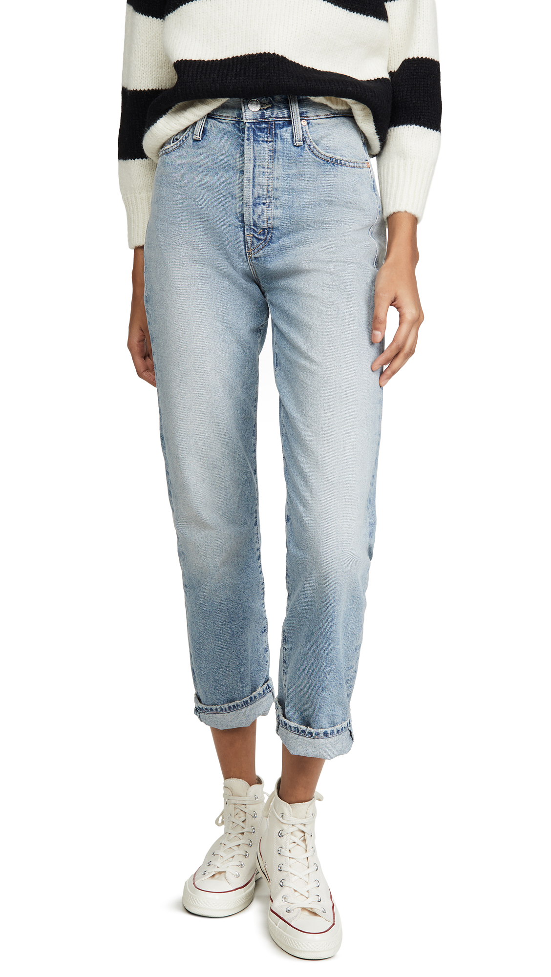 Buy MOTHER online - photo of MOTHER MOTHER Superior The Huffy Flood Jeans