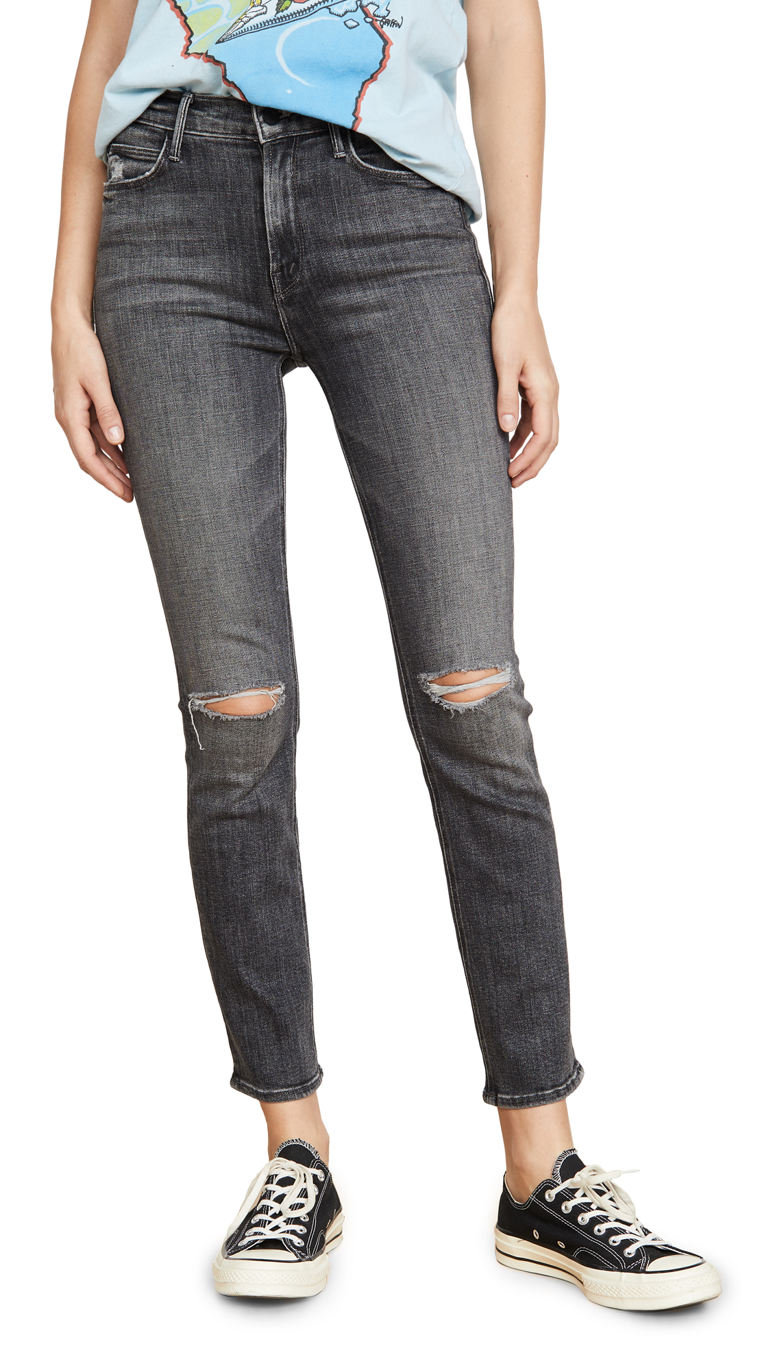 Buy MOTHER online - photo of MOTHER The Mid Rise Dazzler Ankle Jeans