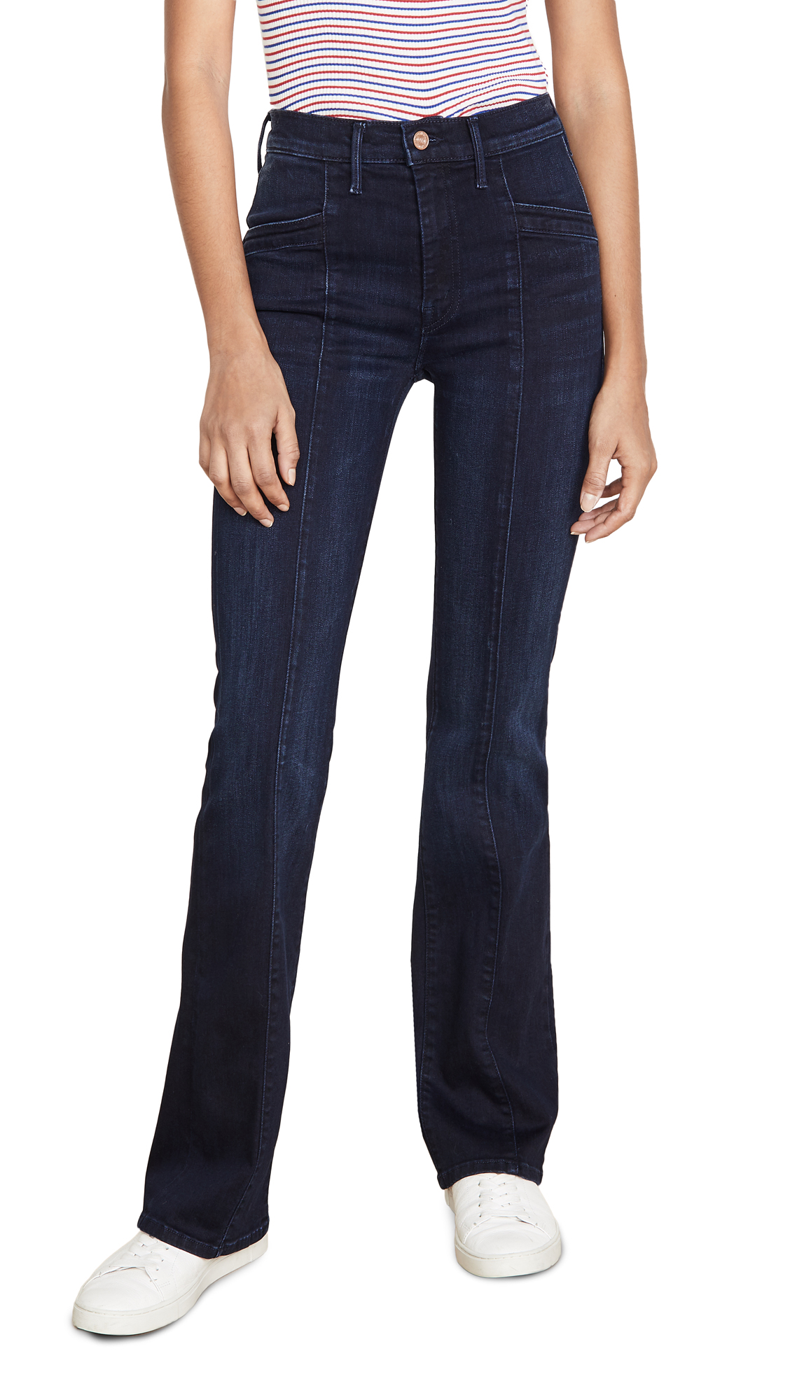 Buy MOTHER online - photo of MOTHER The Slant Drama Jeans