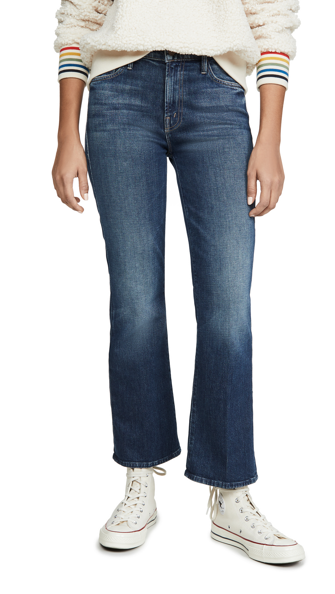 Buy MOTHER online - photo of MOTHER The Outsider Ankle Jeans