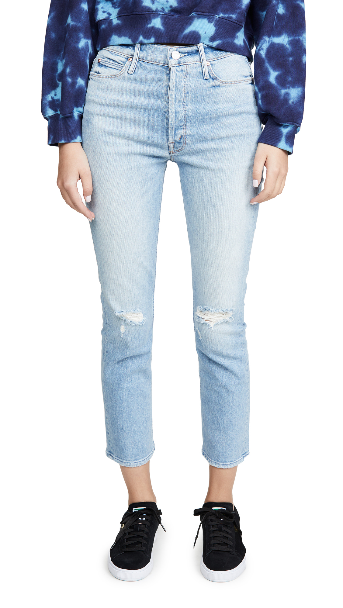 Buy MOTHER online - photo of MOTHER MOTHER Superior The Dazzler Button Fly Ankle Jeans