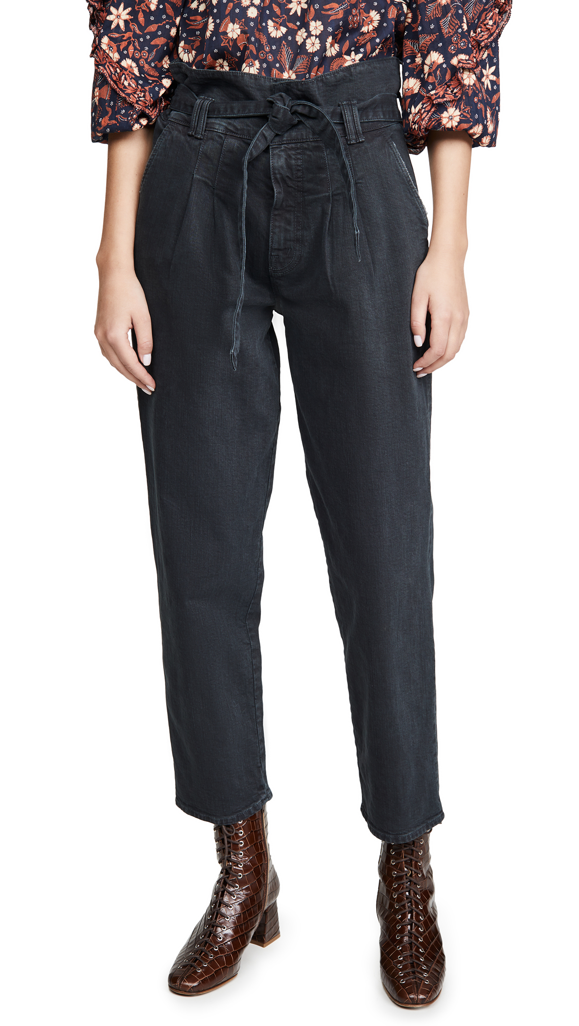 Buy MOTHER online - photo of MOTHER The Greaser Paperbag Pleat Pants