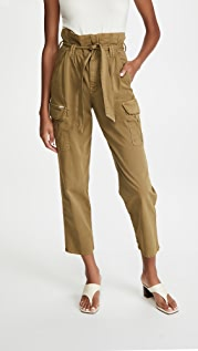 MOTHER Greaser Paperbag Pleated Cargo Ankle Pants