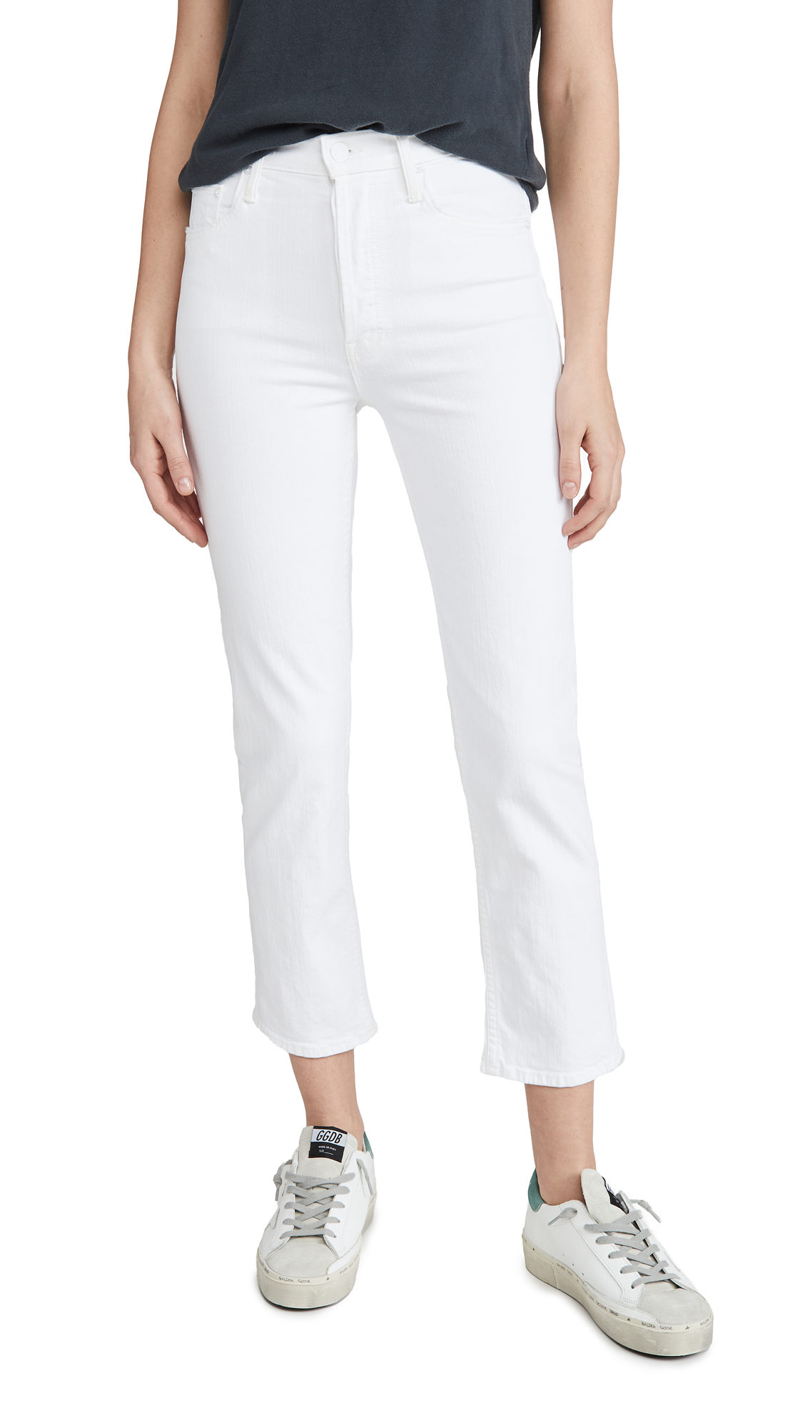 Buy MOTHER online - photo of MOTHER The Tomcat High Waist Cropped Straight Jeans
