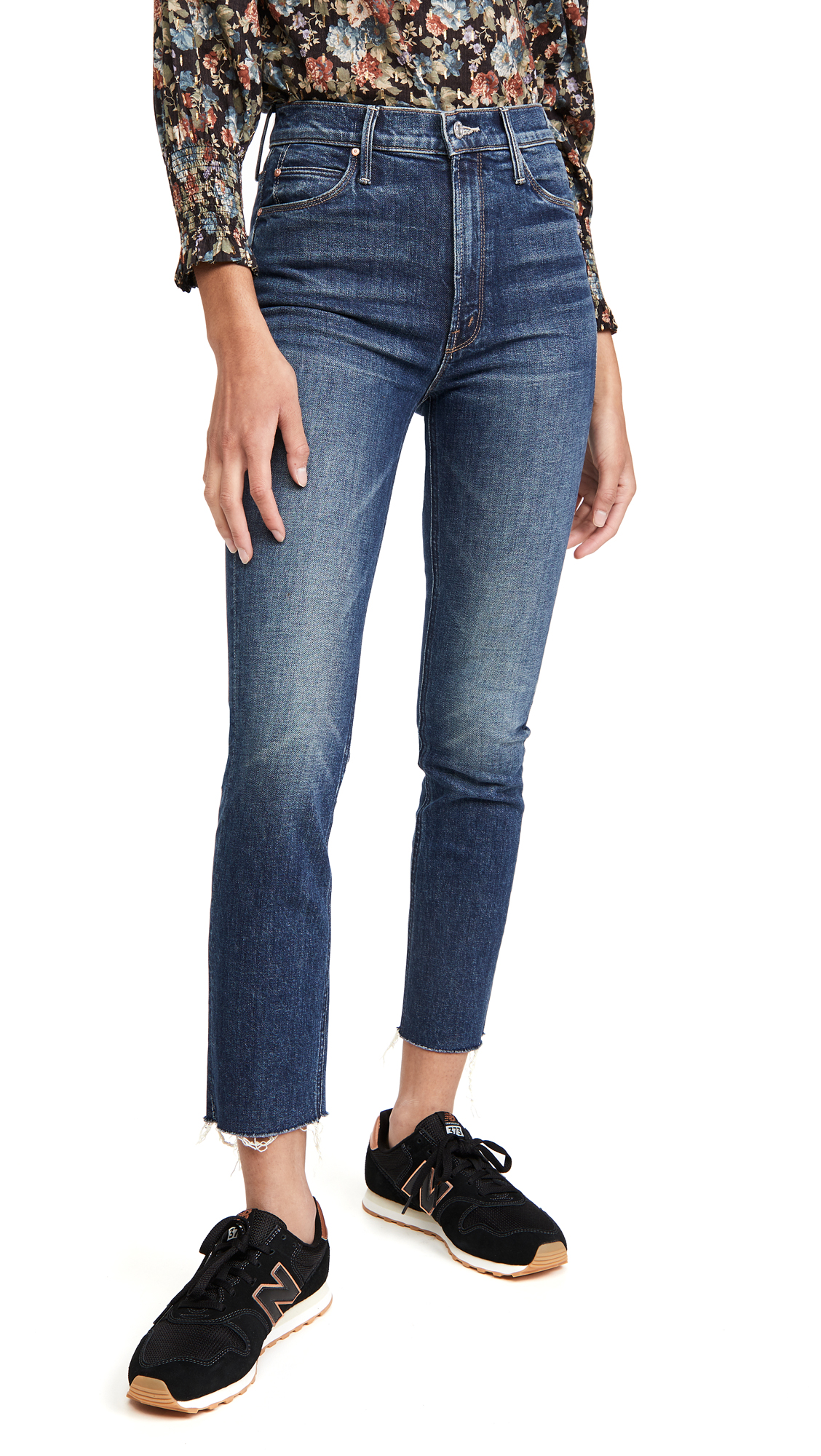 MOTHER MOTHER SUPERIOR THE DAZZLER ANKLE FRAY JEANS