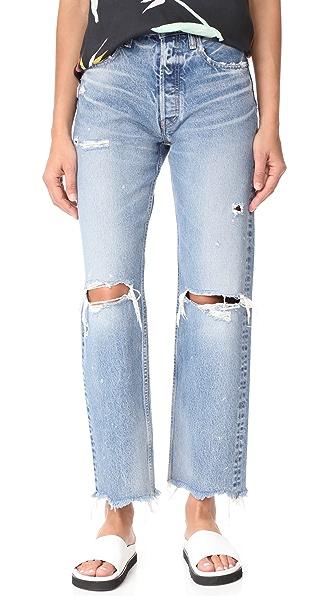 MOUSSY MV Odessa Wide Stright Jeans - Blue
