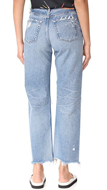 MOUSSY MV Odessa Wide Stright Jeans
