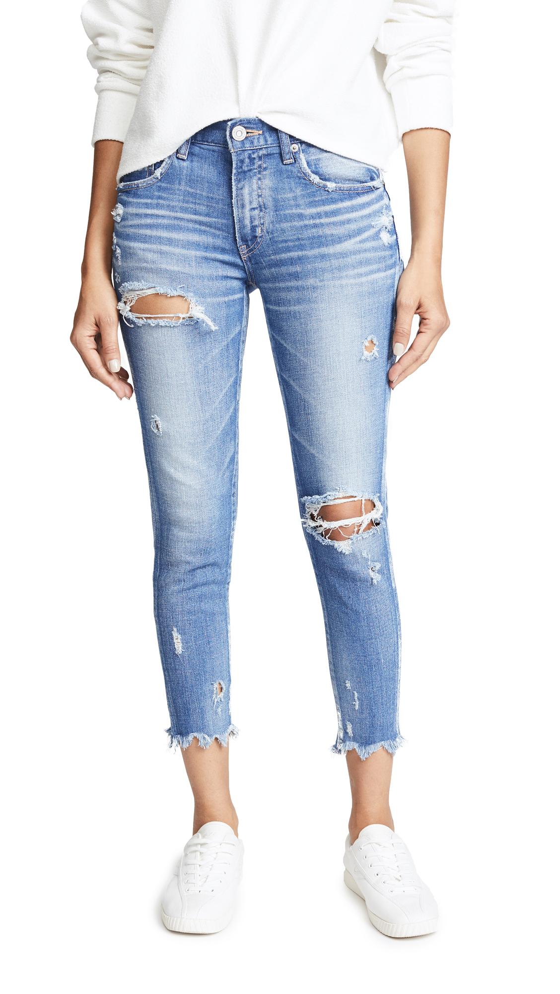 MOUSSY VINTAGE iSKO Comfort Ridegewood Skinny Jeans In Light Blue