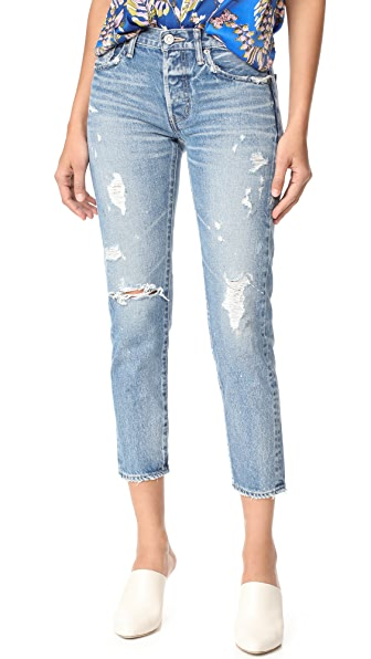 MOUSSY MV Aberdeen Tapered Jeans In Blue