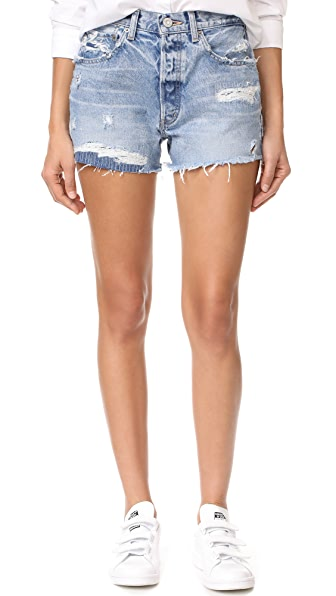 MOUSSY MV Hand Repaired Shorts - Light Blue