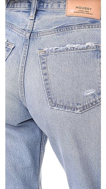 MOUSSY MV Loa Wide Leg Jeans