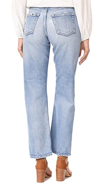MOUSSY MV Linda Wide Straight Jeans