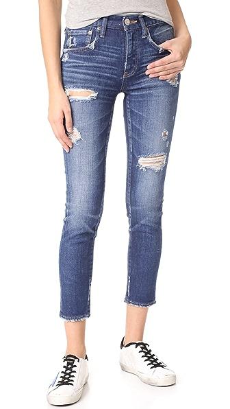 MOUSSY Isko Comfort Ace Skinny Jeans in Blue
