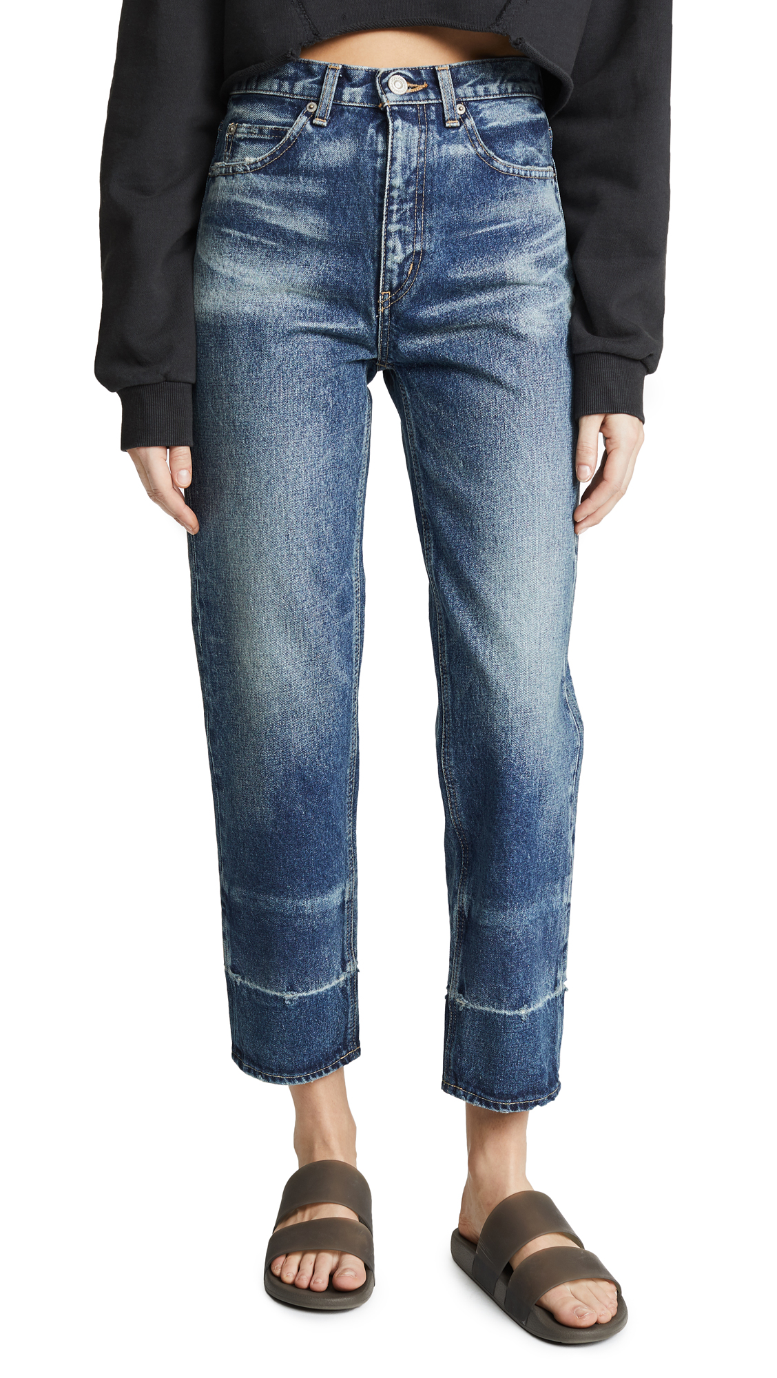 MOUSSY VINTAGE MV Orin JW Tapered Jeans In Dark Blue