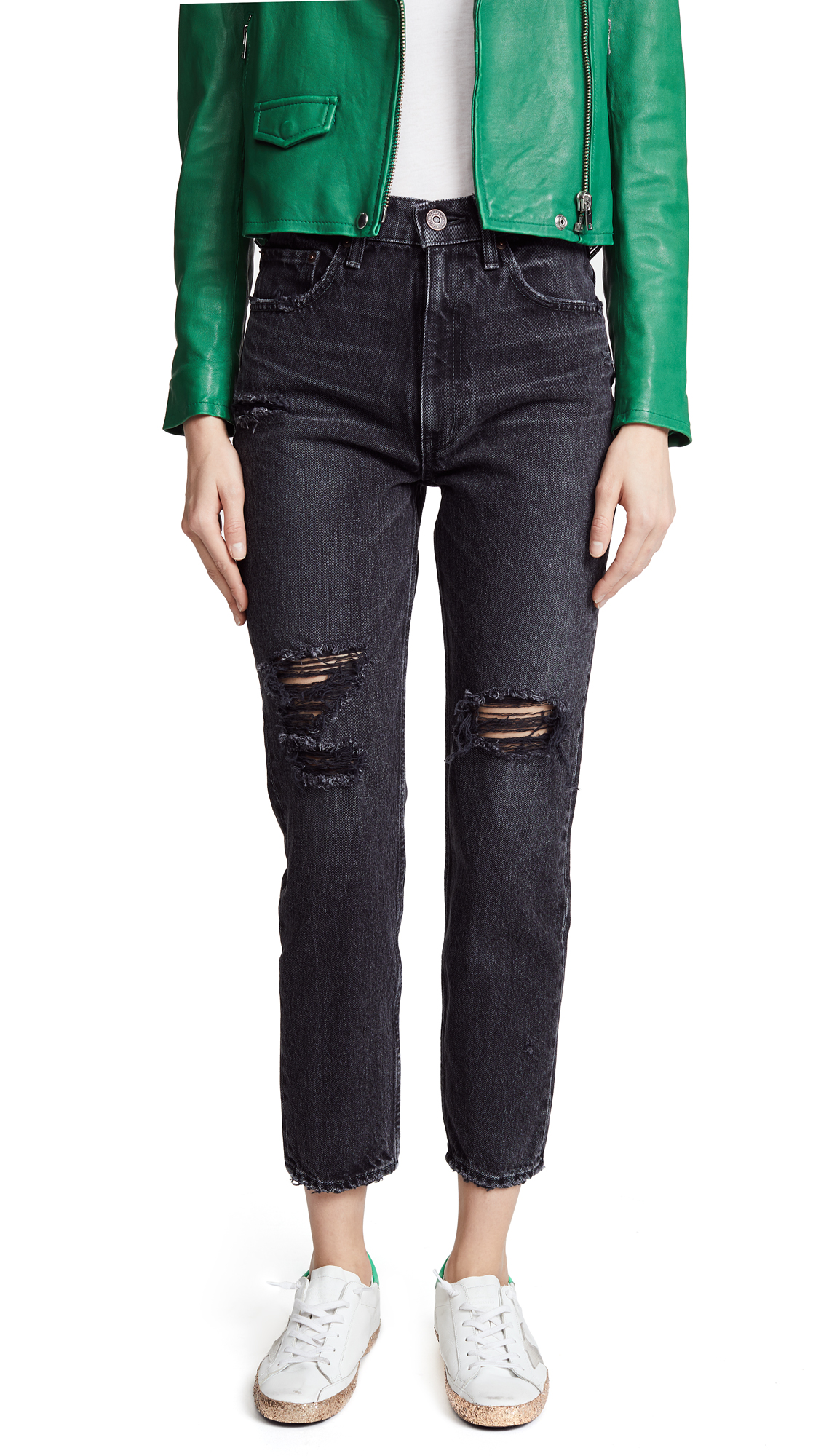 MOUSSY VINTAGE MV Stuart Boy Skinny Jeans In Black