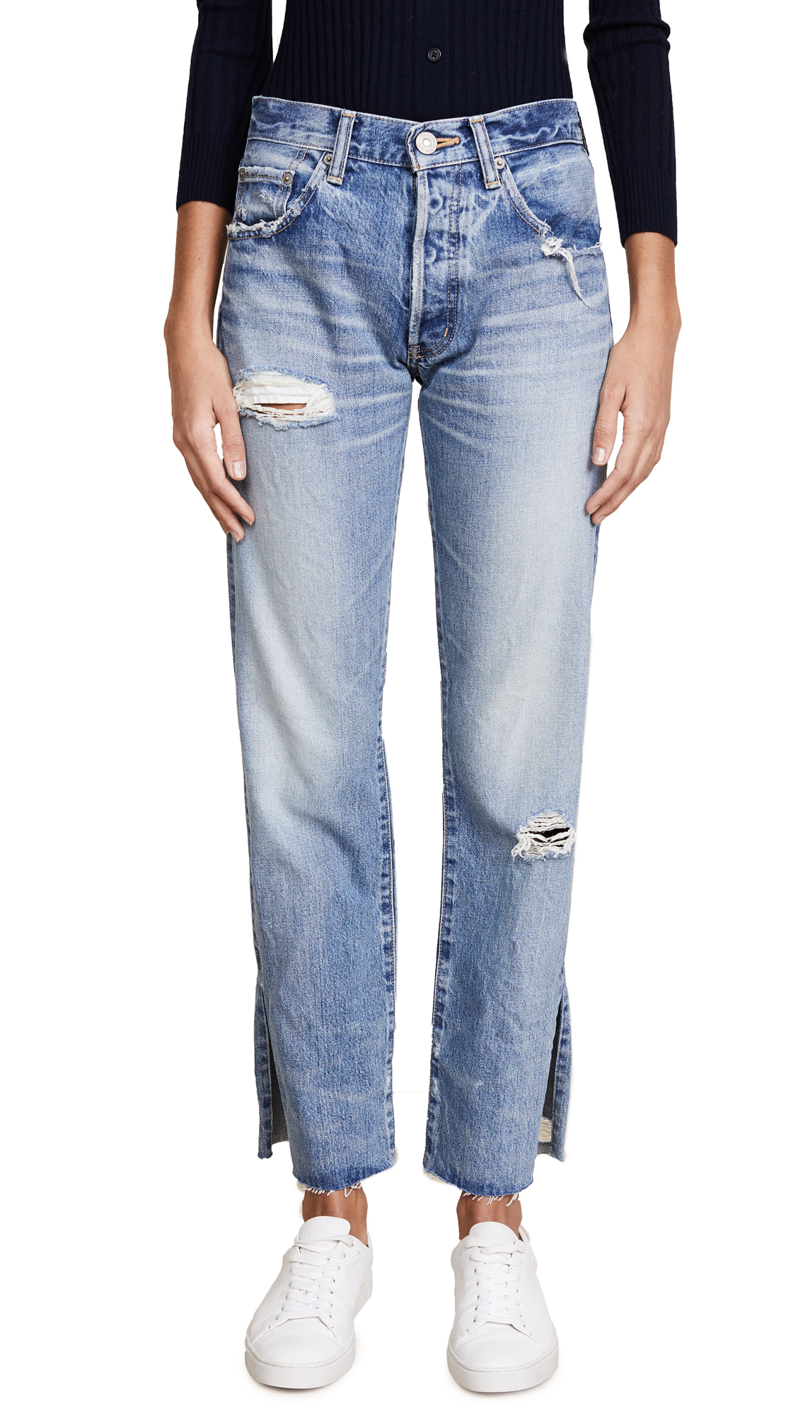 MOUSSY VINTAGE MV Alva Straight Jeans In Blue
