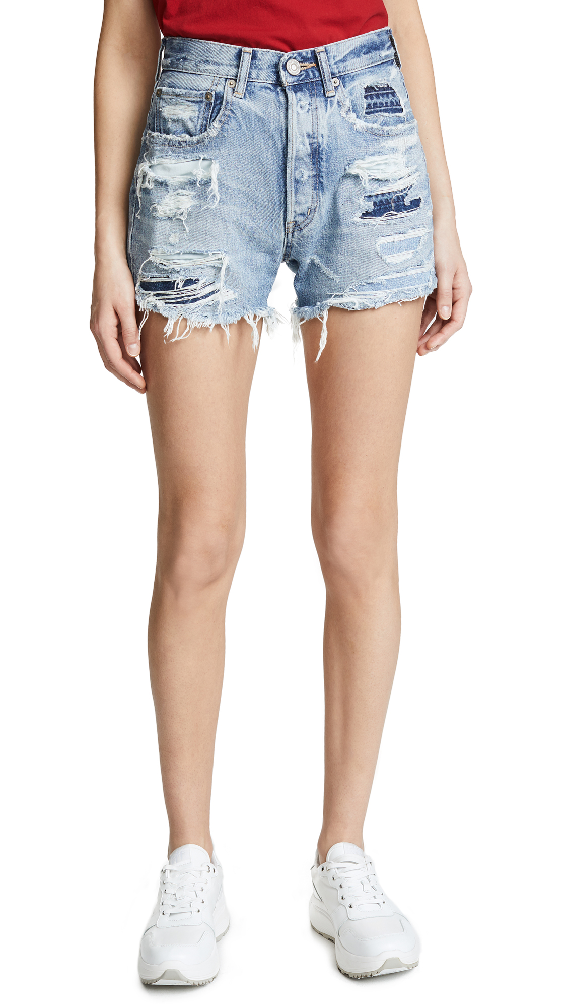MOUSSY MV JONES PATCHED HAND REPAIR SHORTS