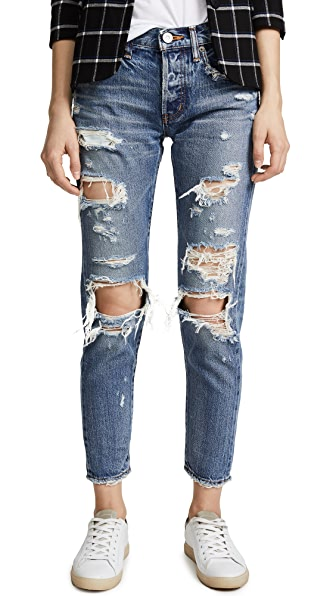 MOUSSY MV Adel Tapered Jeans In Blue