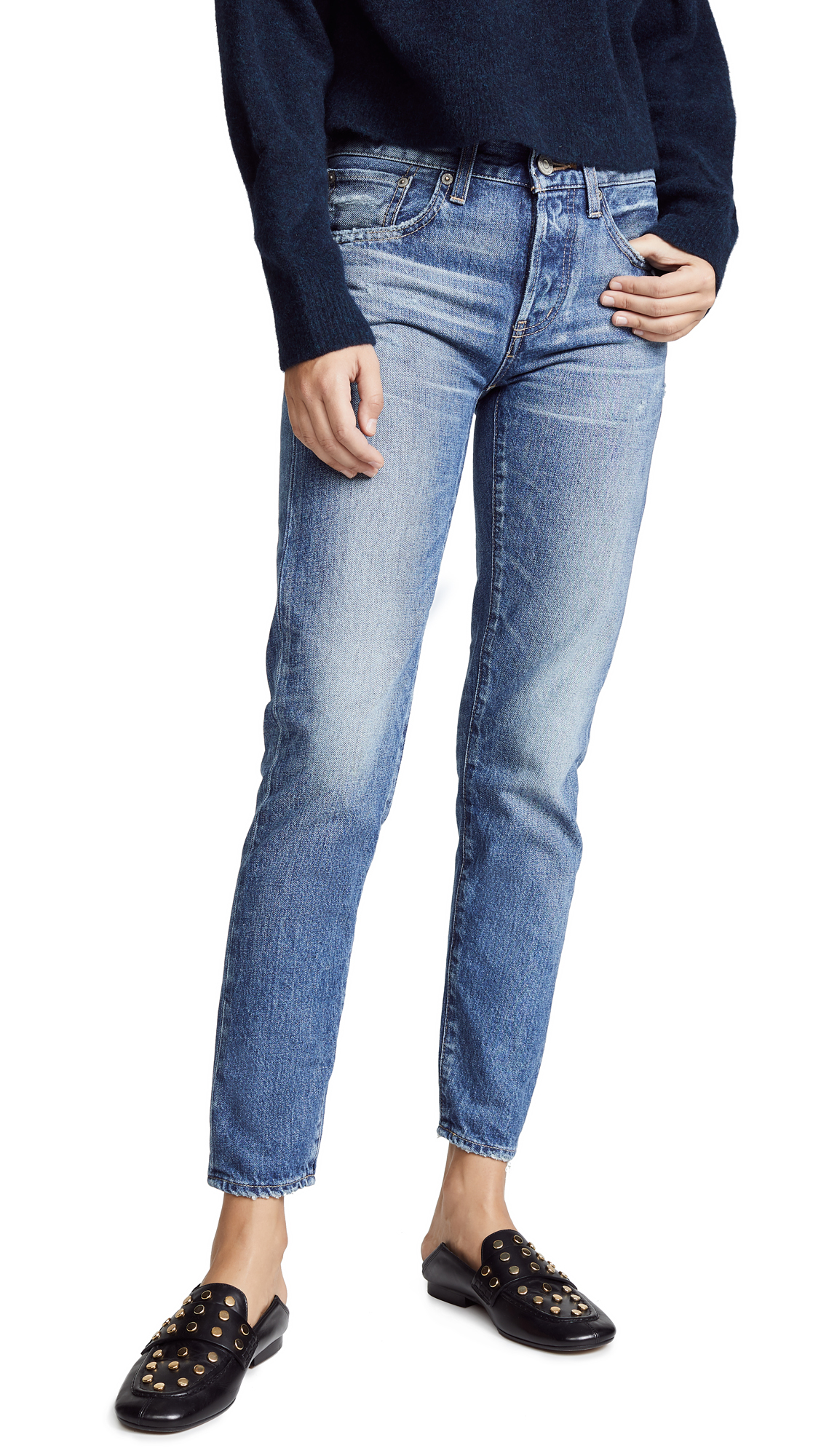 MOUSSY VINTAGE MV Vienna Tapered Jeans In Blue