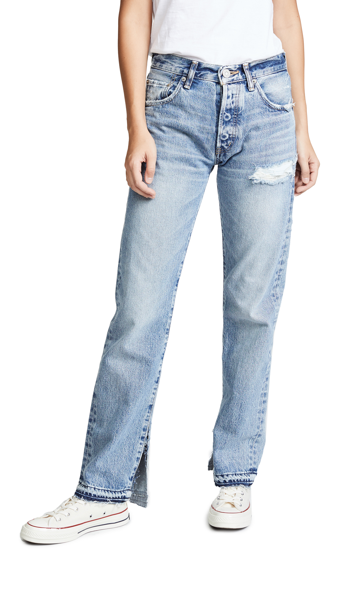 MOUSSY VINTAGE MV Mayer Straight Jeans In Blue